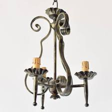 pair of small belgian chandeliers