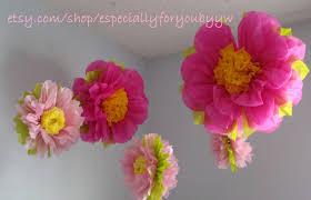 Pom Pom Decorations 1st Birthday Decorations 5 Tissue Paper Pom Poms Flowers