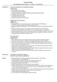Scm Manager Resume Samples Velvet Jobs