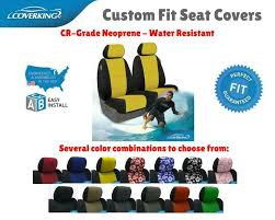 details about cr grade neoprene custom fit seat covers coverking for toyota matrix