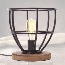 Tafellamp Landelijk Industriële Birdie Met Hout Kopen Vintage