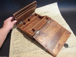 com antique style wood folding travel writing lap desk office s