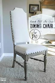 knock off no sew dining chairs bless39er house how to reupholster