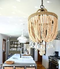rescued crystals to the rescue again wood bead chandelier large wood bead chandelier world market