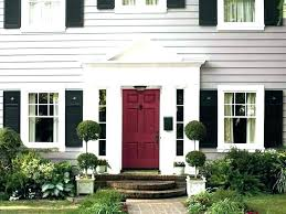 black shutters red door black garage door black shutters red door