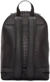 Christopher Kane Black Leather Digi Croc Backpack | Портфель ...