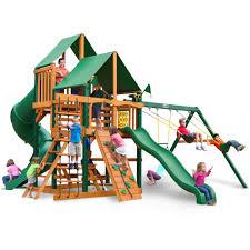 outdoor playground design ideas with gorilla playsets unique gorilla playsets mountaineer deluxe cedar wooden swing