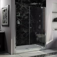 dreamline allure frameless pivot shower door 32 x 60 shower base contemporary shower doors by plumbersstock