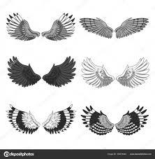 коллекция пар 6 элегантных птиц или ангел расправить крылья