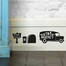 Wall Sticker Bathroom Mouse Driving The Car 3d Mouse Hole Wall Stickers For Kids Rooms
