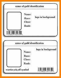identity card template word 6 id card template word edu techation