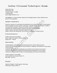 Gallery Of Resume Samples Cardiac Ultrasound Technologist Medical S