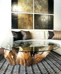 tree stump coffee table with glass top tree trunk coffee table reclaimed wood stump tree stump