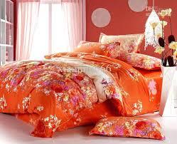 pink and orange bedding orange red pink yellow peony flower cotton queen size duvet quilt doona pink and orange bedding