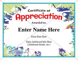 Sample Of Appreciation Certificates Free 16 Examples Of Certificate Of Appreciation In