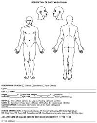 Injury Location Chart Body Map Forms And Paperwork