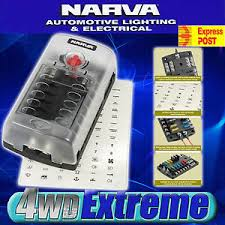 narva 12 way fuse block box holder ats blade caravan dual battery caravan fuse box problems image is loading narva 12 way fuse block box holder ats