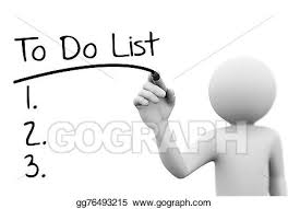 3d person writing to do list on transpa screen
