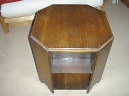 vintage art deco 1930s octagonal coffee table book case