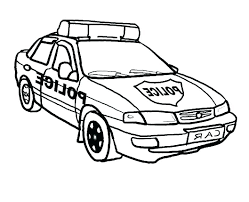 Police Car Pictures To Color Policeman Coloring Pages Preschool