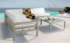 Horizon Modular Lounge Suite Powder Coated Aluminum Kiaat Wooden Powder Coated Outdoor Furniture