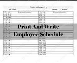 Printable Employee Work Schedule 12 Hours Or 24 Hours 15