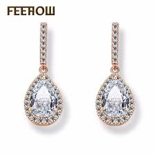 2019 <b>FEEHOW</b> Charms Women Party Jewelry Fashion <b>Teardrop</b> ...