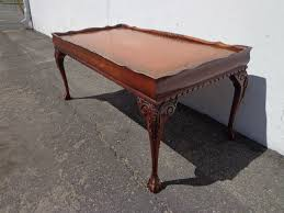 Replacement leathers for antique desks and tables bring life back to your old desk or table with our replacement desk leathers which you can fit yourself. Antique Coffee Table Mahogany Wood Tooled Leather Top Side Accent Hepplewhite Traditional Shabby Chic Vintage Victorian Bedside Federal