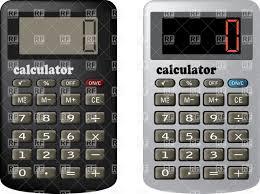 Financial Calculator The Financial Calculator Stock Vector Image