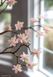 Paper Flower Branches Crepe Paper Cherry Blossom Branches Beautiful Paper Crafts Paper
