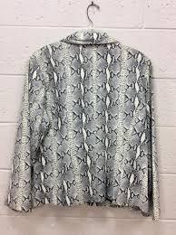 lot 2246 pelle studio wilsons leather faux snake blazer