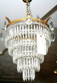 chandeliers 1930s crystal chandelier antiques atlas 5 tier waterfall astor round 47