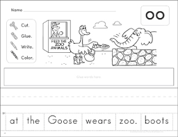 These worksheets are a great tool to check your students' understanding of oo words! Variant Vowel Oo Phonics Scrambled Sentence Printable Cut And Pastes Skills Sheets