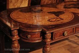 antique mahogany large home office unit. cut corner and sheraton style legs antique mahogany large home office unit h