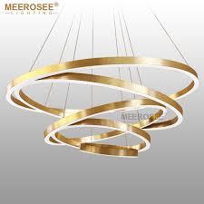 large pendant lighting. large rings led pendant lights gold hanging lamp for restaurant acrylic circle lampadario lustres lighting