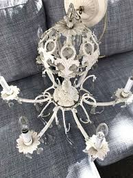 vintage white chandelier vintage white iron chandelier pictures concept
