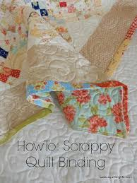 How To: Scrappy Quilt Binding Tutorial | A Quilting Life - a quilt ... & If you have left-over binding bits and pieces from other quilt projects,  you can sew together a pieced scrappy binding in a hurry. Adamdwight.com