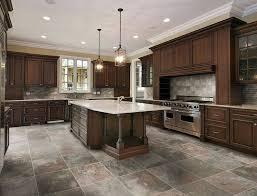 kitchen tile flooring dark cabinets kitchens with dark cabinets and tile floors interesting on floor