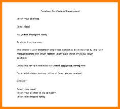 12 Certificate Of Employment Sample Colonialneighbours Com