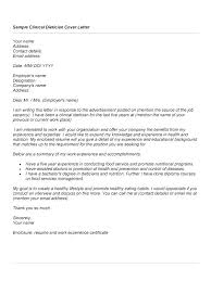 Nutritionist Cover Letter Resume Examples Secretary