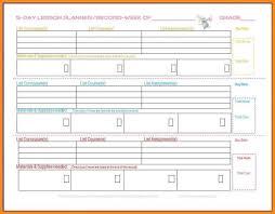Weekly Lesson Plan Templates 5 Week Lesson Plan Template Yadonavi