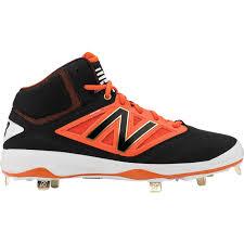 new balance metal baseball cleats. new balance 4040 v3 mid metal baseball cleats black/orange mens - shoes ho