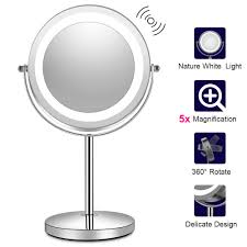 Portable Makeup Mirror With Lights Details About Lighted Makeup Mirror With Lights Led Magnifying With Magnification Portable Us