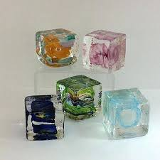 group glass ice cubes cube touch table lamp blown 2