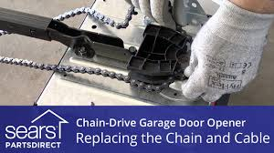 replacing the chain and cable assembly on a chain drive garage door opener you
