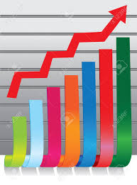 3d Stock Chart Illustration Of 3d Colorful Stock Chart