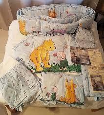 vintage disney classic winnie the pooh baby crib nursery bedding blue 7 pc set 1 of 12 see more
