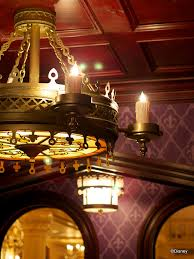 chandelier in a be our guest restuarant dining room