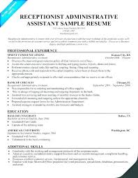 Best Resume For Administrative Assistant Administrative Assistant Resume Examples With No Experience