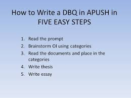 How To Write A Dbq In Apush Five Easy Steps   Read The Prompt   Essay